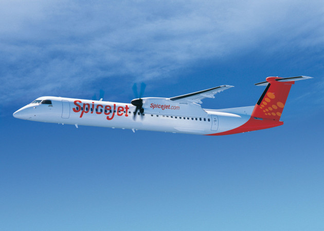Proud to fly a turboprop q400 vs atr72 the flying engineer q400 in spicejet colors fandeluxe Choice Image