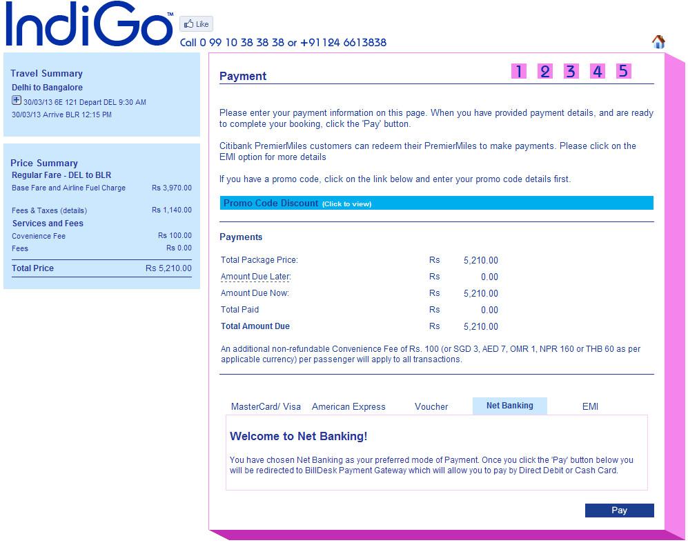 Booking Fee Air Travel