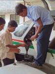 "Filling automotive gas into an ""external fuel tank"""