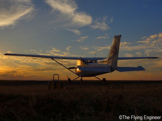 A Cessna 172 longing for the skies.