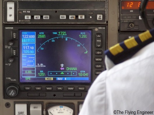 The Garmin GNS 530 on board theor Piper Seneca IV