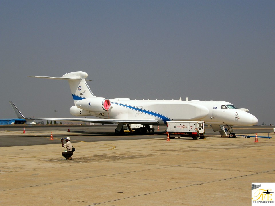 An IAI-modified Gulfstream Aerospace G-V-SP Gulfstream G550 Eitam