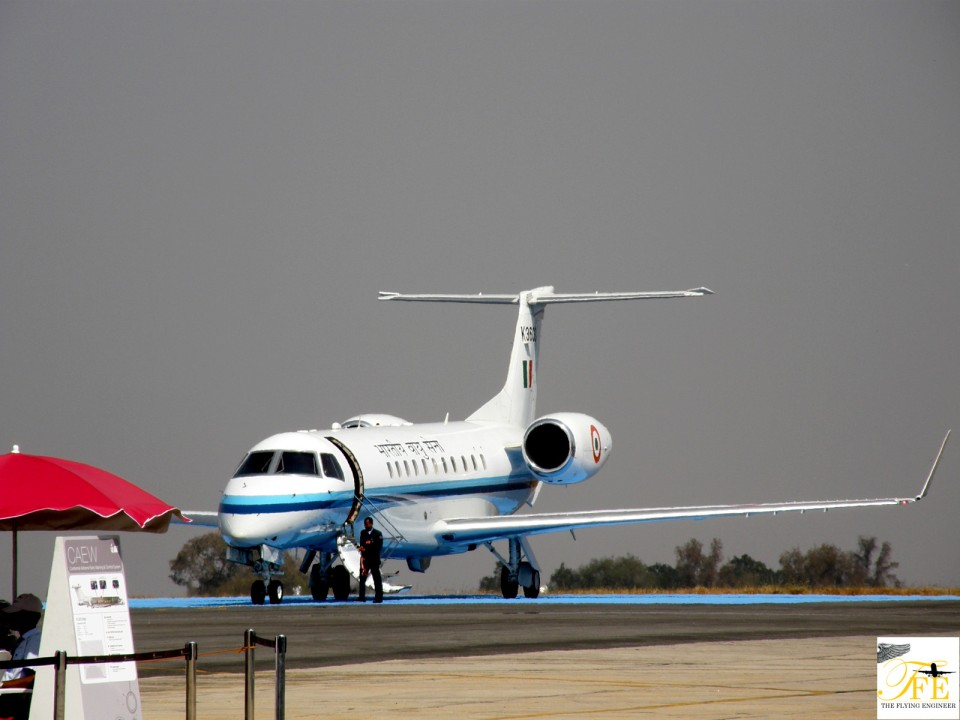 The IAF's VIP transport, an EMB 135