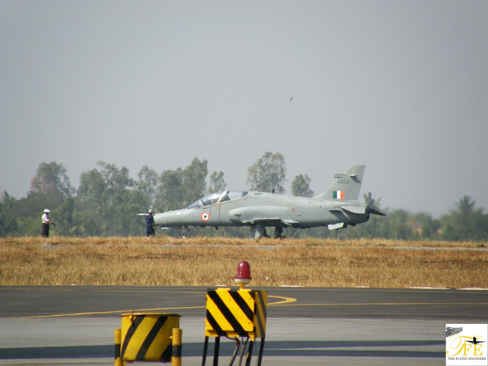 A BAe Hawk flying for the IAF