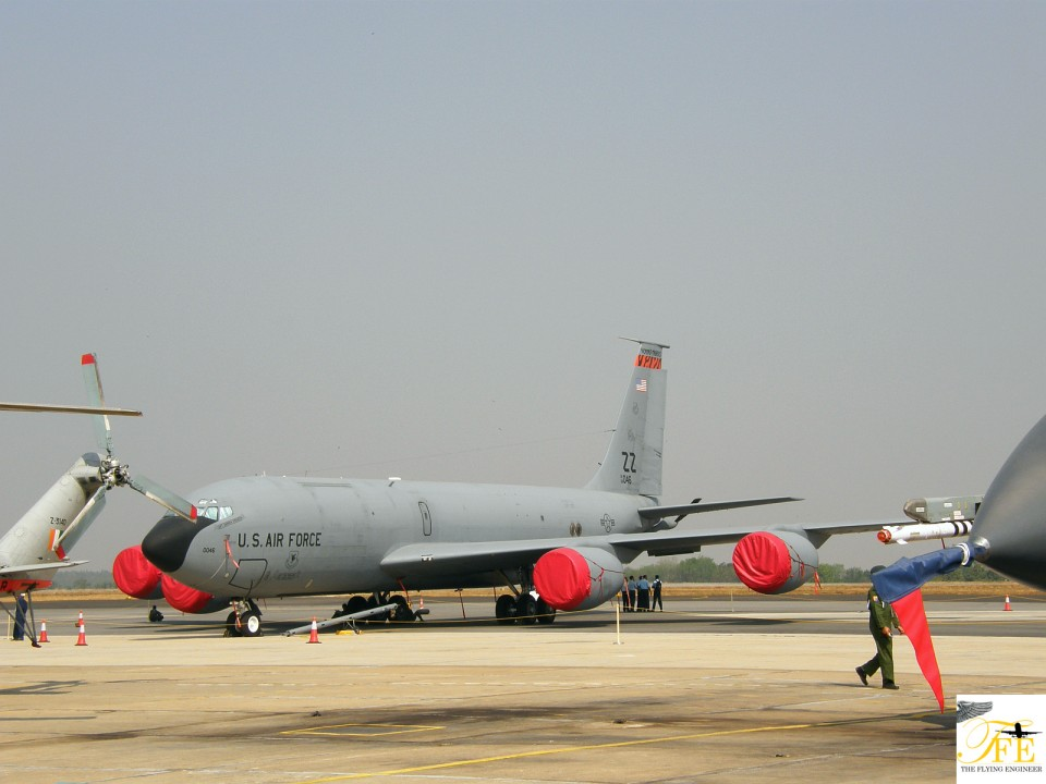 A KC-135 tanker in USAF colors
