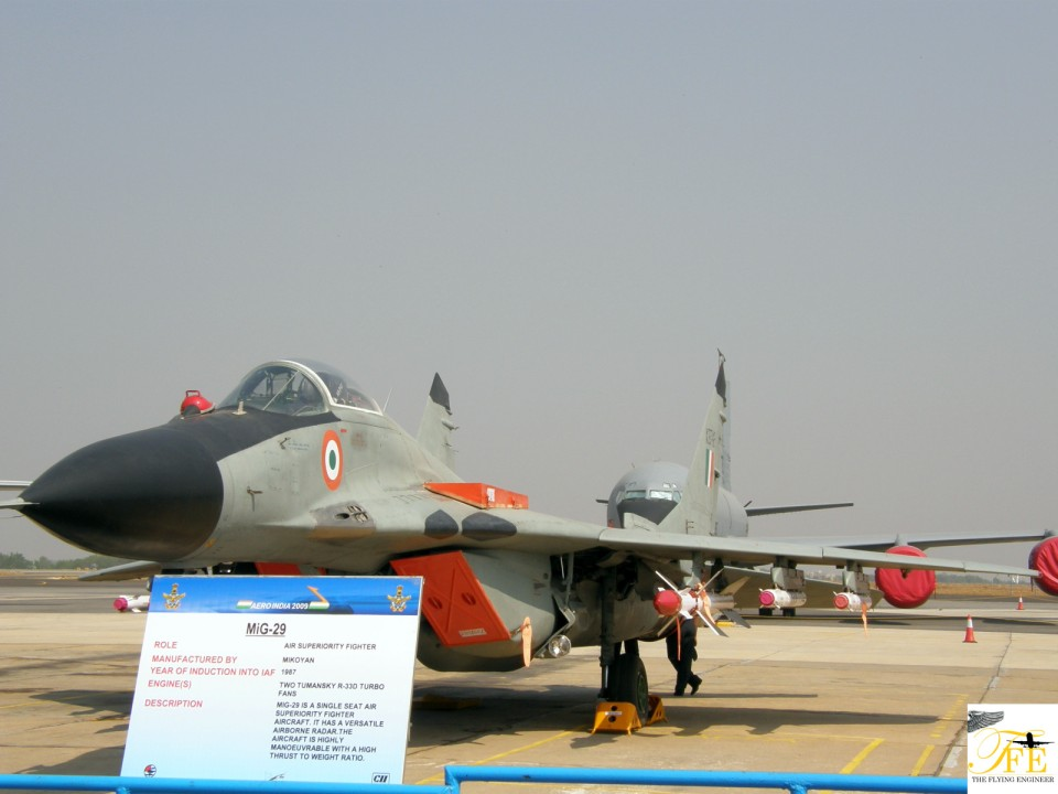 A MiG 29 flying for the IAF - a filler