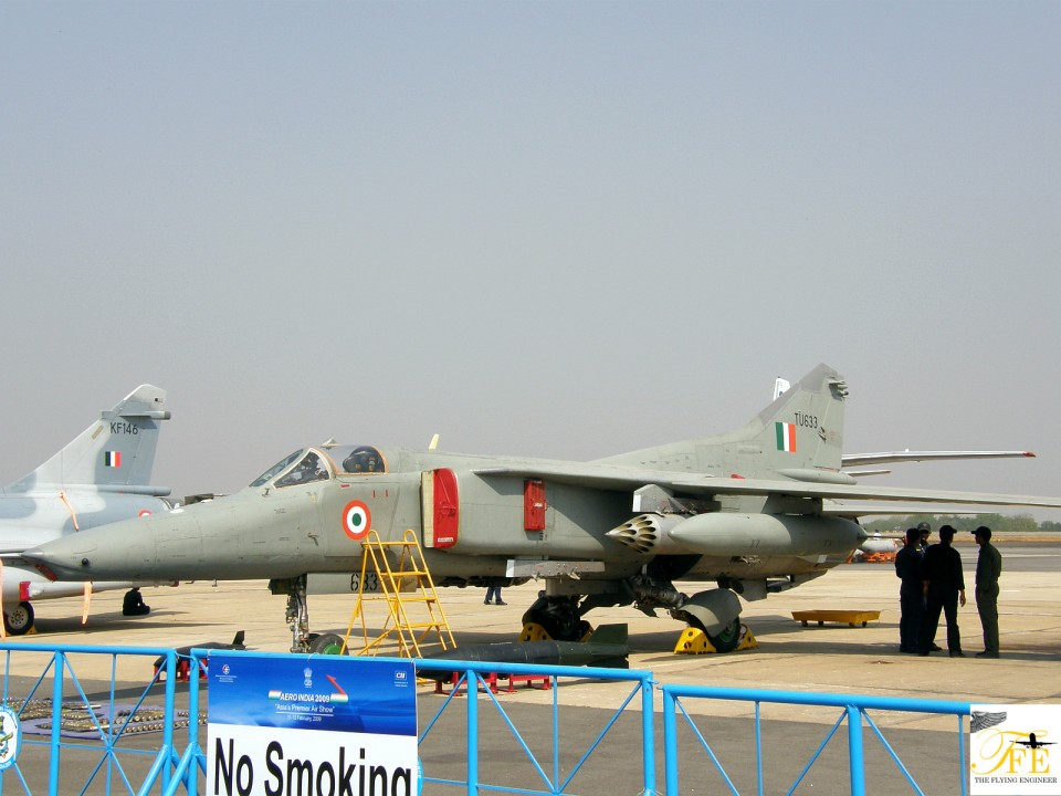 A MiG 27 flying for the IAF - a filler