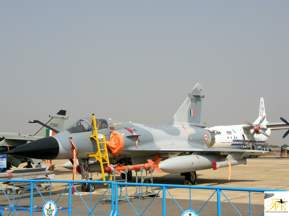 IAF Dassault Mirage 2000 on static show - a filler
