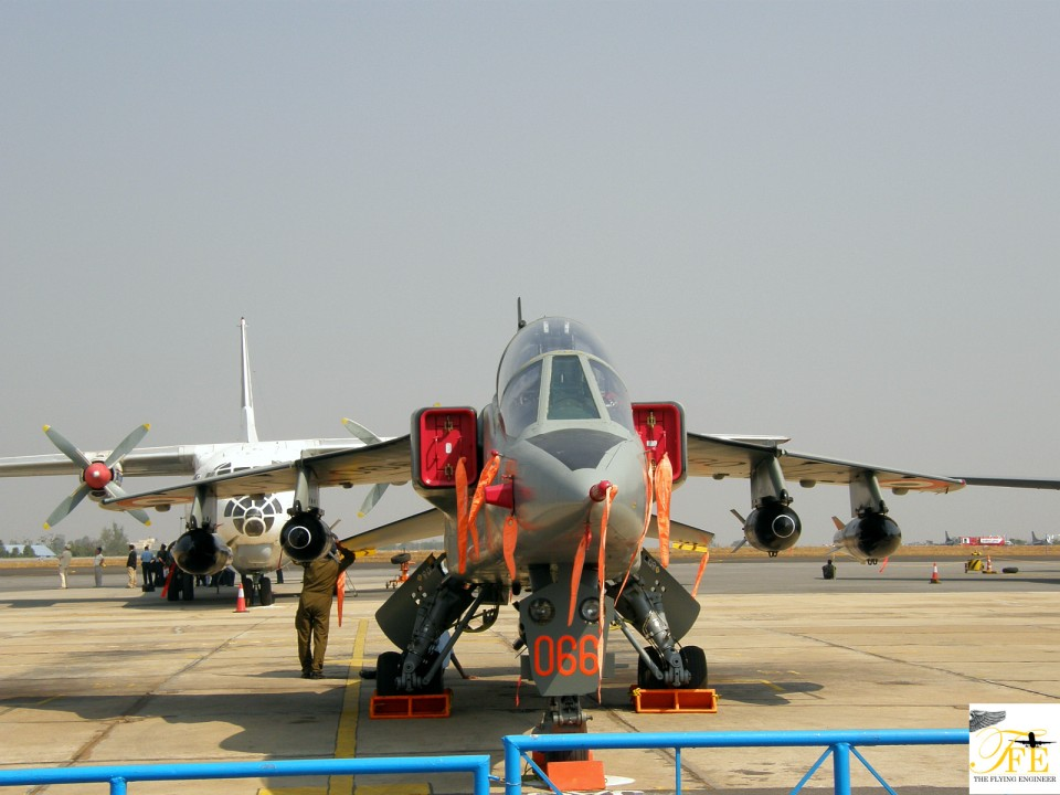 A Jaguar trainer flying for the IAF - a filler