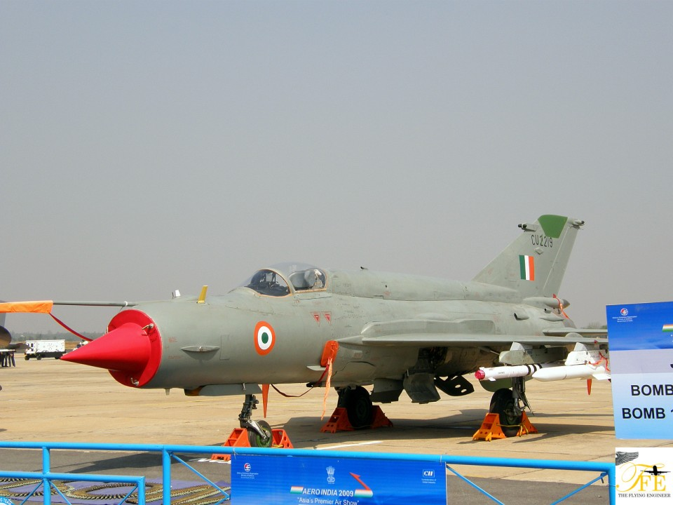 A MiG 21 flying for the IAF - a filler