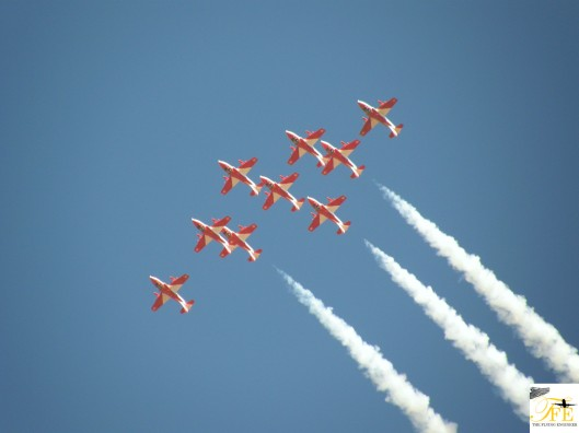 Surya Kiran Aerobatic Team (flying the HJT-16s]. That have been disbanded.