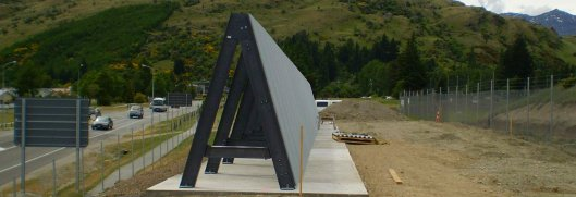 A Jet Blast Shield, installed at Queenstown Airport, NZ. Image taken from Blastwall.