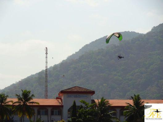 Flying over the DC's Office, Karwar.