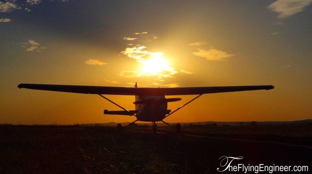 Training Aircraft Sunset