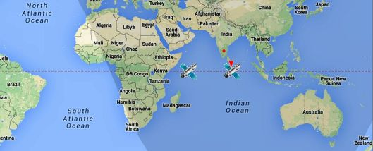 GAGAN's GSAT 8 (closer to Africa) and GSAT 10 provide the SBAS correction & integrity signals.