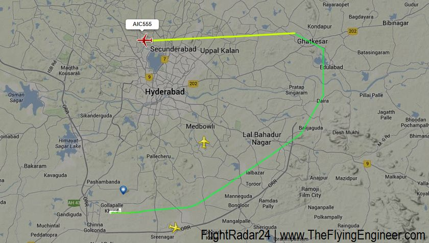 A 10 Minute Boeing 787 Flight: The Hyderabad Shamshabad to Hyderabad ...