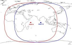 footprint of GAGAN sats